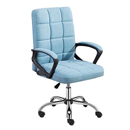 Bürostuhl Schreibtischstuhl Drehstuhl Ergonomischer Schreibtischstuhl Lendenwirbelstütze mit mittlerer Rückenlehne und höhenverstellbarer, drehbarer drehbarer Computerstuhl Ultraweiches Schwammkisse