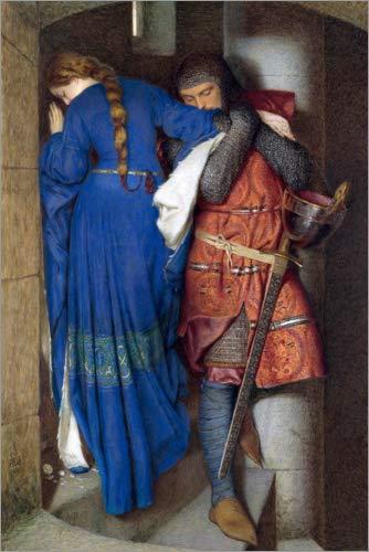 Póster 20 x 30 cm: Meeting on The Turret Stairs de Frederic William Burton - impresión artística, Nuevo póster artístico