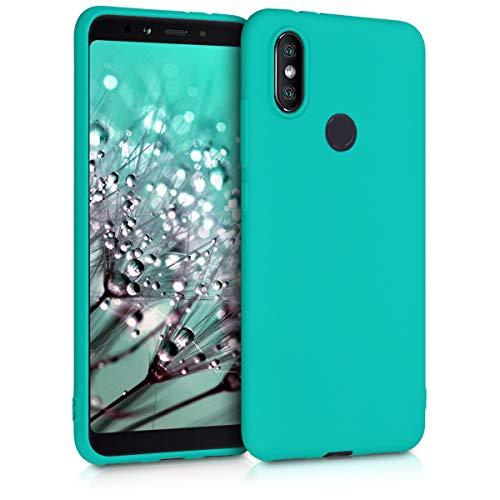 kwmobile Funda Compatible con Xiaomi Mi 6X / Mi A2 - Carcasa de TPU Silicona - Protector Trasero en Turquesa neón