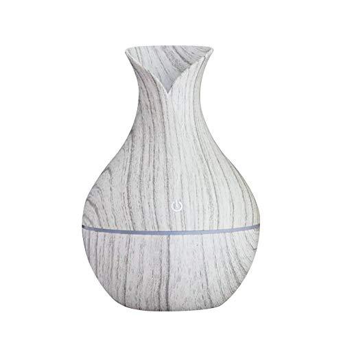 Festnight Aroma Diffuser 130ml, Luftbefeuchter Öl ltraschall Kreative Vase Holz Mini Stumm USB Luftbefeuchter Haushaltsluftbefeuchter Schlafzimmer Ätherisches Öl Aromatherapie Maschine