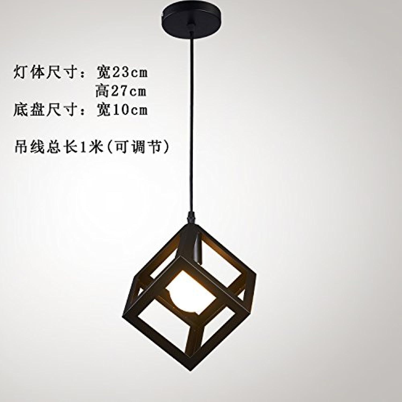 Luckyfree Kreative Modern Fashion Anhnger Leuchten Deckenleuchte Kronleuchter Schlafzimmer Wohnzimmer Küche, Quadratische schwarze 7-W-LED