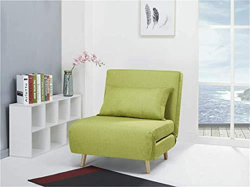 Schlafsessel Jugendsessel Gästebett Como Klappsessel Stoff grün schmal