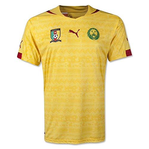 Puma Men's Cameroon Away Shirt Replica Dandelion T-Shirt SM