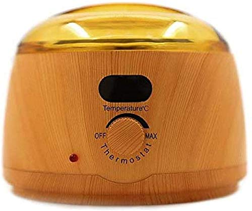 HWXDH 450CC Wax Warmer Wood Grain Paraffin Heater Wax for Depilation Epilator Hand Spa Machine for Soft, Paraffin, Beans and Strip Wax