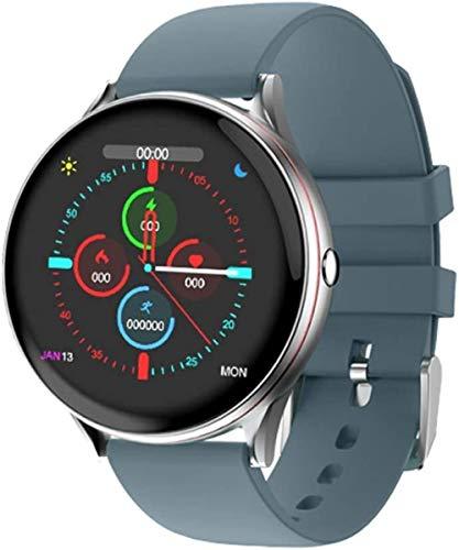 Reloj inteligente Ip67 impermeable con pantalla táctil completa para hombres y mujeres para Android 4.4 & Amp iOS 9.0 o superior Be Different/Rosa-Azul