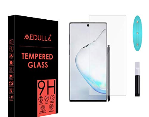 Medulla UV Tempered Glass Screen Protector for Samsung Note 10 Plus Border Less Full Coverage Edge to Edge with Installation Kit