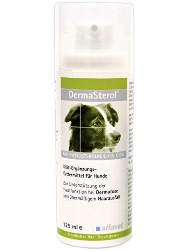 Alfavet DermaSterol®forte-Einheit: 125 ml-Diät-Ergänzungsfuttermittel für Hunde-Zur Unterstützung der Hautfunktion bei Dermatose und übermäßigem Haarausfall