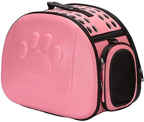 Haustier Hund Katze Träger Welpen Käfig zusammenklappbare Reisetasche EVA Solid Color Pet Out Tasche Klassische Katzentasche Hundetasche Faltbare und waschbar Reise Haustier Tasche for Medium Small Si