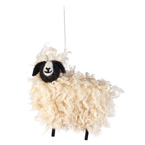C&F Wooly Sheep Farm Animal Christmas Xmas Ornament Multi