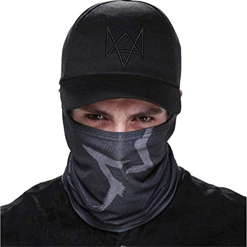 2 pack Watch Dogs Aiden Pearce Face Mask Bandana Motorcycle Face Mask UV Sun Riding Skeleton Mask for Fishing Hunting Cycling Men