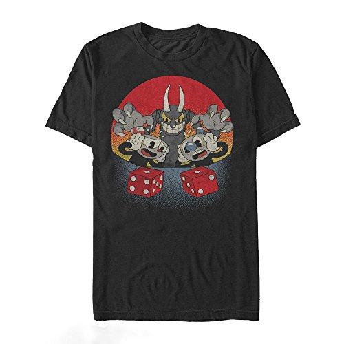 Fifth Sun Cuphead   Men  's Snake Eyes T-Shirt, Large