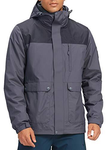 CAMEL CROWN Mens 3-in-1 Ski Jacket Waterproof Warm Winter Coat Mountain Snow Jacket for Rain Outdoor Hiking
