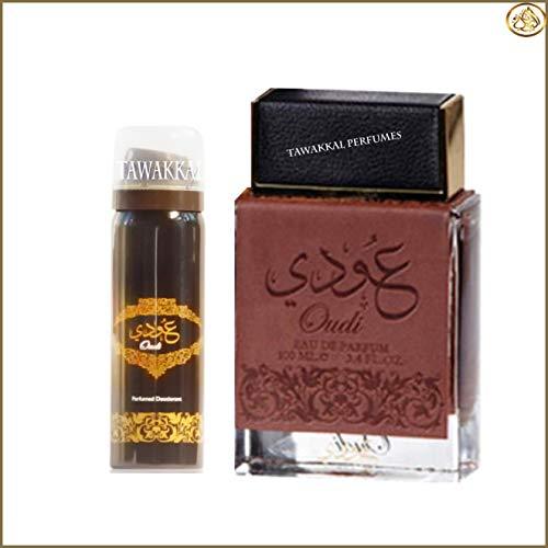 Oudi Edp Spray 100ml avec déo intérieur pour Unisexe par Ard Al zaafaran - Parfum floral pour homme