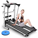 2 in 1 Under Desk Treadmill, Folding Walking Jogging Machine with Display, Mute