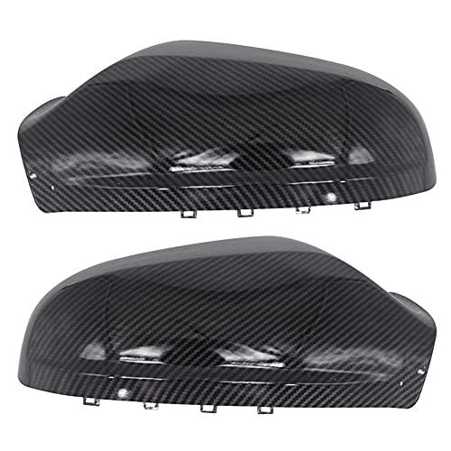 ZHHRHC Tapa de la cubierta del espejo retrovisor del coche Carcasa del espejo retrovisor de marcha atrás de fibra de carbono, para Opel Astra JK 2010-2019