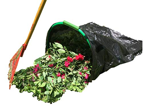 Leaf Gulp Lawn Bag Holder For 39 Gallon PLASTIC Leaf Bags. Hands-Free Bagging. Just 'Sweep' Yard and Garden Leaves or Debris. Made in USA