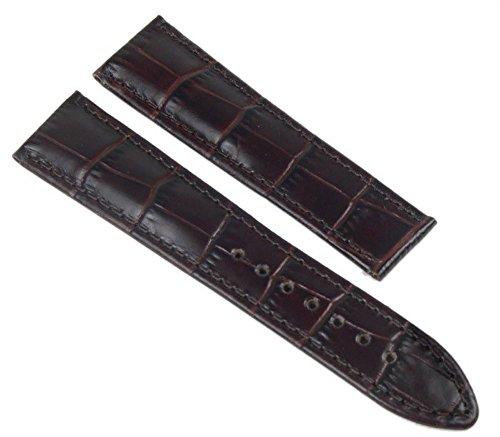 Maurice Lacroix Faltschliessen Lederband, Kalb Kroko-Optik braun 20 mm