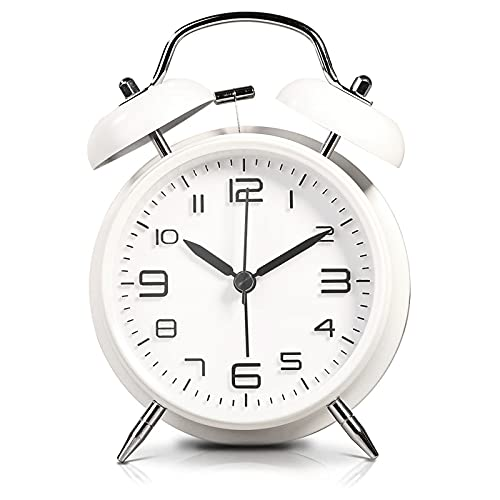 LATEC Twin Bell Alarm Clock with Backlight, 4' Stereoscopic Dial, Battery...