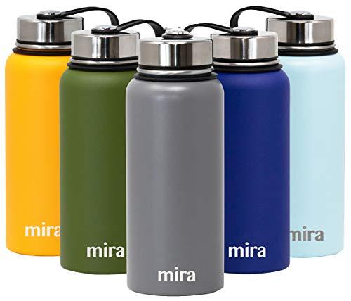 Mira Bottiglia per l'Acqua in Acciaio Inox Isolata a...