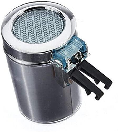 COLiJOL Porta Cigarrillos Cenicero de Cubo de Colilla de Cigarrillo Portátil Coche Vehículo Ventilación de Aire Auto Luz Led Cigarrillo sin Humo Cenicero Titular Cenicero de Coche Plateado,Color,Tama