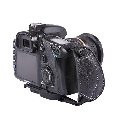 Micnova MQ-GS7 Genuine Leather Grip/Hand Strap for DSLR Cameras (Tripod Mount Attachment) {Style# 7}