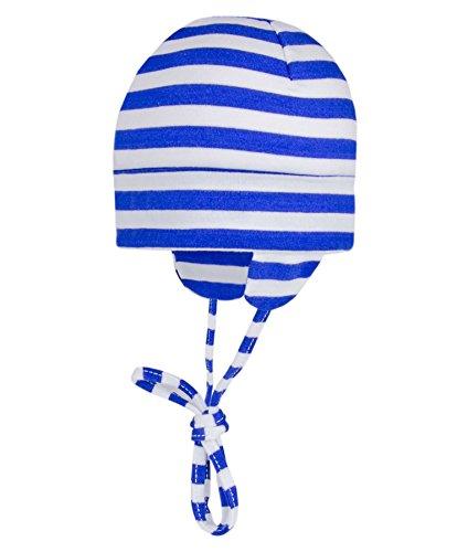 Döll Unisex-Baby Mütze Binde Jersey, Gr. 41, Blau (Victoria Blue 3690)