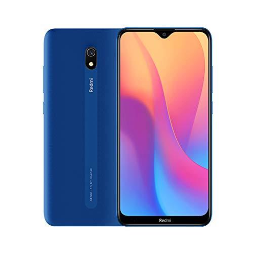 Xiaomi Redmi 8A Smartphone, 2GB 32GB, 6,22' Pantalla, Snapdargon 439 Octa Core, 5000mAh, 12MP AI Cámara Trasera, 8MP Cámara Frontal, Versión Global (Azul)