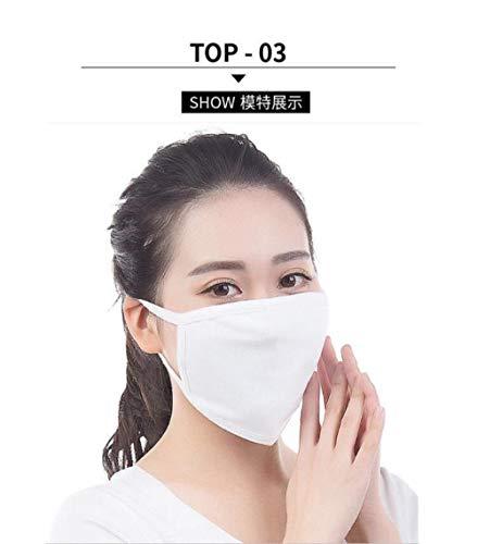 Mannen en vrouwen, katoenen maskers, wit en zwart ademend, zonnescherm, winddicht, grijs katoenen maskers, koud en stofdicht