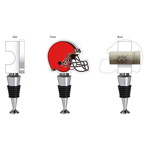 Team Sports America Cleveland Browns Hand-Painted Team Logo Bottle Stopper