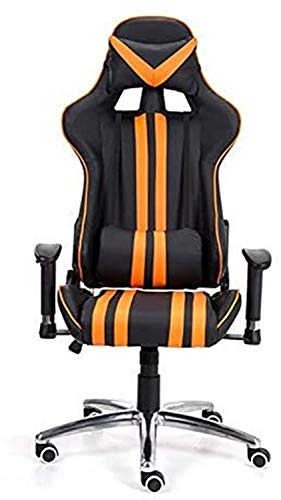 Ergonomic Desk Chairs Gaming Chair, Reclining Ergonomic Chair with Footrest,Ergonomic Adjustable Office Chair with Lumbar Support and Rollerblade Wheels - High Back with Breathable Mesh - Thick Seat C