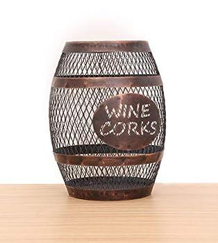 SODUKU Wine Barrel Cork Holder Wine Cork Holder Cork Storage Antique Bronze
