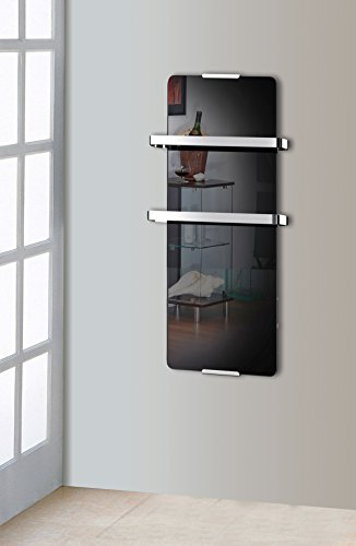 Chemin\'Arte 176 Toallero, 600 W, Negro, 90 x 6 x 46 cm
