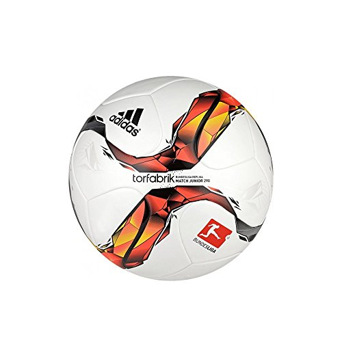 adidas Unisex - Kinder Fußball Torfabrik DFL Junior 290, white/solar red/black/solar orange, 5, S90208