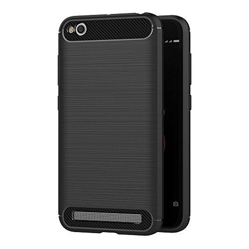 AICEK Funda Xiaomi Redmi 5A, Negro Silicona Fundas para Xiaomi Redmi 5A Carcasa Xiaomi Redmi 5A Fibra de Carbono Funda Case (5,0 Pulgadas)