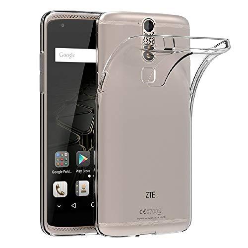 REY Funda Carcasa Gel Transparente para ZTE AXON 7 Mini, Ultra Fina 0,33mm, Silicona TPU de Alta Resistencia y Flexibilidad