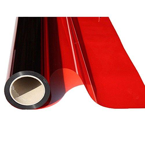 HOHO coloré Transparent Window Film en Verre Crème Solaire Proof Isolation Thermique fenêtre D ¨ ¦ cor, Rouge 19,6 en. par 118.1 en.
