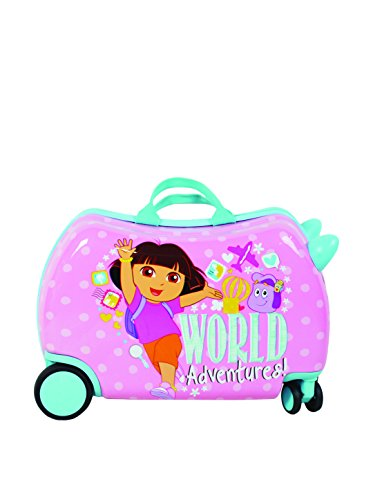 Smiley 16 Inch Ride-On Cruizer Carry-On by ATM Luggage (One Size, Pink)