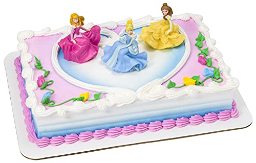 DecoSet® Disney Princess Once Upon a Moment Cake Topper, 3-Pc Decorations Set with Aurora, Belle, and Cinderella…