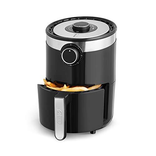 Dash DCAF250GBBK02 Aircrisp Pro Compact Air Fryer + Oven Cooker with Temperature Control, Non Stick Fry Basket, Recipe Guide + Auto Shut Off Feature, 2qt, Black