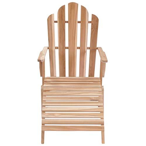 Tidyard Adirondack-Stuhl mit Fußstütze Teakholz Adirondack Chair with footrest Teak Furniture Garden Furniture Garden Furniture Garden Chairs