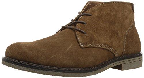 Nunn Bush Men's Lancaster Plain Toe Chukka Boot, Camel Suede, 9 Medium