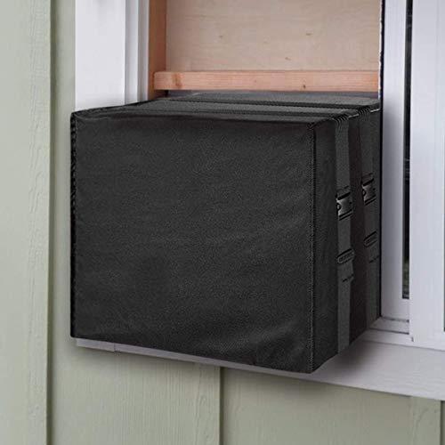 KiKiYe Copertura per Condizionatore d'Aria da Finestra 21''wx15''hx16''d per unità Esterna AC, Resistente Inverno AC Defender, Fondo Coperto