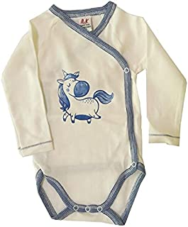 A&K Cotton Wear Baby Bodysuit For Boys, Blue - 2724968916408