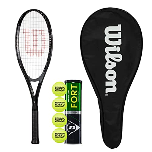 Wilson Pro Staff Excel 112 GX Tennis Racket With Full Length Cover and 4 Tennis Balls