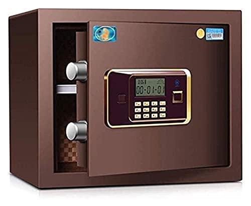 XLAHD Cajas Fuertes y Hucha, Cajas de Seguridad para el hogar, Caja Fuerte de Seguridad Digital para el hogar Moda marrón, Caja para esconder Dinero