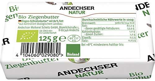Andechser Natur Bio AN Bio Ziegenbutter (6 x 125 gr)