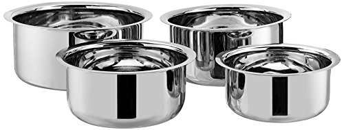 5ba80a55f45 Amazon Brand - Solimo Stainless Steel 4-Piece Tope Set Without Lid Rs. 759