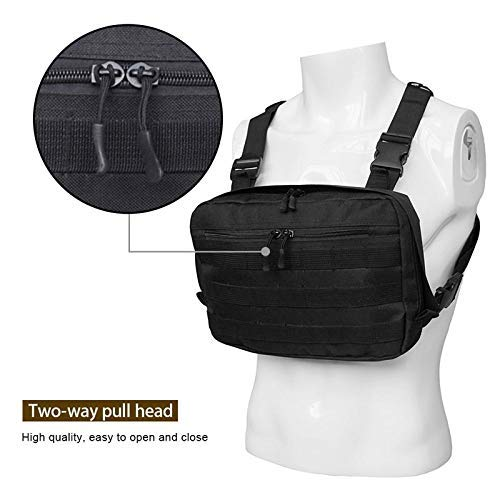 KOKOUK Radio Chest Harness, Chest Front Pack Pouch Holster Vest Rig Universal Hands Free Chest Harness Vest with Adjustable System for Two Way Radio Walkie Talkie & Rescue Essentials: Amazon.es: Hogar