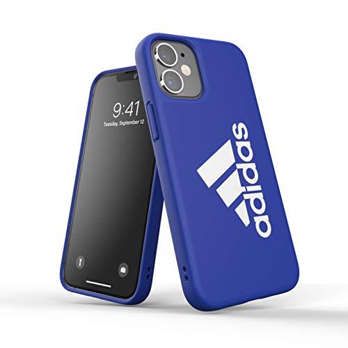 Adidas, custodia progettata per iPhone 12 Mini 5.4, Sports Iconic, custodie testate per cadute, bordi rialzati, custodia sportiva, colore: blu