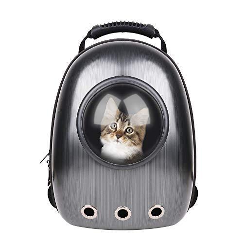 RCruning-EU Hundetasche Haustier Hunde Rucksack Raumkapsel Pet Tragbar Carrier Platz Kapsel Rucksack Luftlöcher Wasserdicht Leicht Handtasche für Katzen Kleine Hunde Petite Tiere